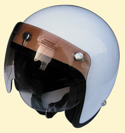 マッハGoGoGo!!な雰囲気☆UVカット加工☆ほとんどのジェットヘルメットに対応!グラデーションマッハシールド/DAMMTRAX(ダムトラックス)バイクヘルメット用