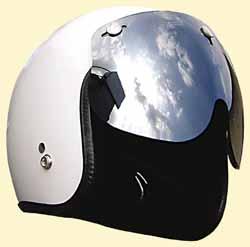 マッハGoGoGo!!な雰囲気☆UVカット加工☆ほとんどのジェットヘルメットに対応!ミラーマッハシールド/DAMMTRAX(ダムトラックス)バイクヘルメット用