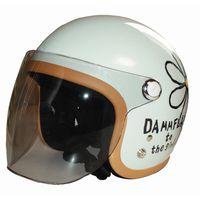 FLOWER SHIELD フラワーシールド フラワージェットヘルメット専用シールド DAMMTRAX DAMMFLAPPER ダムトラックス ダムフラッパー バイク ヘルメット用シールド