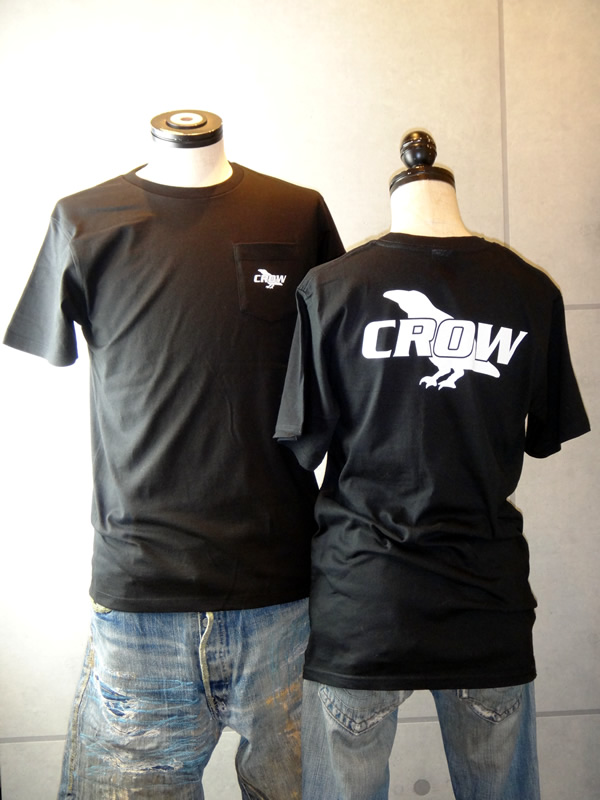 TEAM CROW チームクロウ ポケットTシャツ CT-012 ☆ メンズ&レディース 半袖 TEE