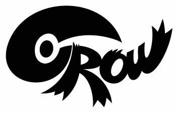 CROWオフィシャルステッカー #CS-003 / ステッカー デカール シール ヘルメット バイク 車 携帯電話 スーツケース 通販 キャラクター ロゴ 文字 英語 アルファベット 防水 アメリカン【メール便OK】