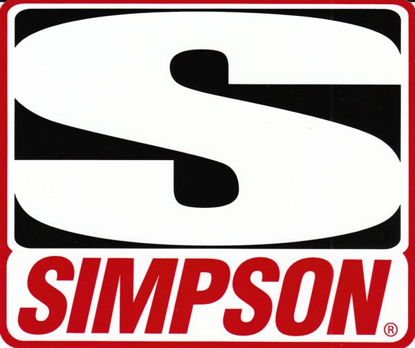 SIMPSON シンプソン オフィシャルステッカー L / ステッカー デカール シール ヘルメット バイク 車 携帯電話 スーツケース 通販 キャラクター ロゴ 文字 英語 アルファベット 防水 アメリカン【メール便OK】