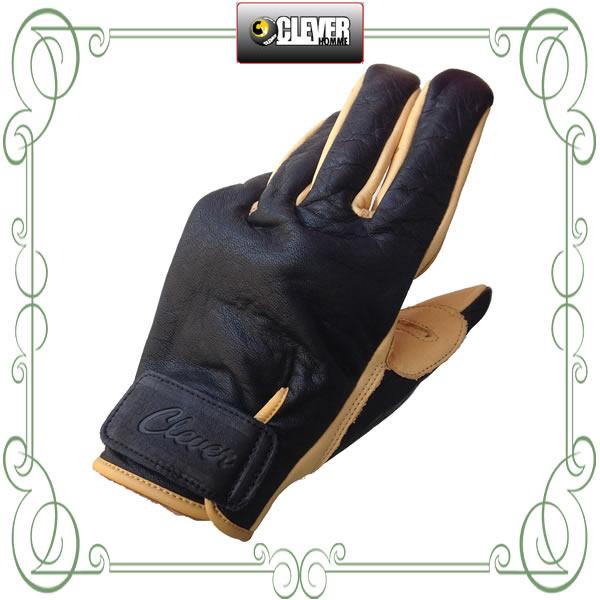オールシーズン使える! CLEVER HOMME クレバーオム レザーグローブ COG-701 /バイク用/オートバイ/グローブ/手袋/メンズ/牛革