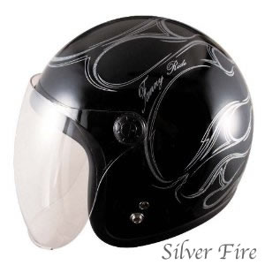 クリアシールド標準装備  TNK工業 SPEEDPIT JL-65SR バイカーズ SR スモールジェットヘルメット ファイアカラー /スピードピット/バイク用/オートバイ/ヘルメット/ ジェット/洗える内装/UVカット/ラメ/ファイアパターン