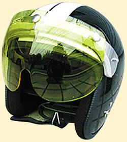 マッハGoGoGo!!な雰囲気☆UVカット加工☆ほとんどのジェットヘルメットに対応!マッハシールド/DAMMTRAX(ダムトラックス)バイクヘルメット用