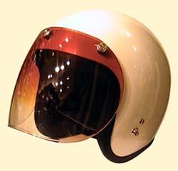 UVカット加工+傷が付きにくく割れにくい! ほとんどのジェットヘルメットに対応 ☆ グラデーショントイシールド / DAMMTRAX(ダムトラックス)バイクヘルメット用