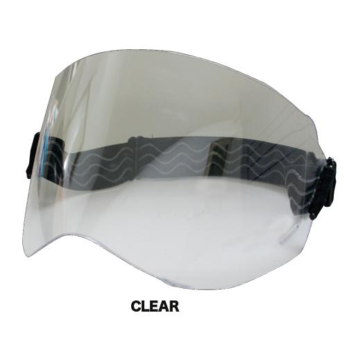 色々なヘルメットに装着可能!ブラスターにもピッタリ☆ ダムトラックス エラスティックシールド クリアー スモーク / DAMMTRAX ELASTIC SHIELD バイク ヘルメット用シールド