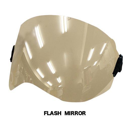 色々なヘルメットに装着可能!ブラスターにもピッタリ☆ ダムトラックス エラスティックシールド フラッシュミラー / DAMMTRAX ELASTIC SHIELD バイク ヘルメット用シールド
