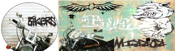 バイカーズミラー #BM-KR,KL/TNK バイク用ミラー