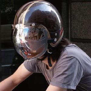 紫外線カット+ブレ・飛散(脱落)防止! ダムトラックス ロッキングラデーションミラーバブルシールド/DAMMTRAX LOCKIN GRADATION MIRROR BUBBLE SHIELD バイクヘルメット用