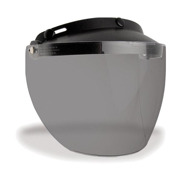 傷つかない!MXL ユニバーサル3スナップ バイザー付きフリップアップシールド アンチスクラッチ /バイク ジェットヘルメット用シールド