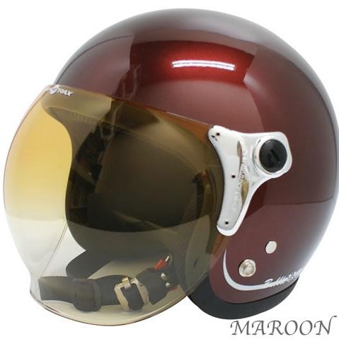 シールド付き! DAMMTRAX BUBBLE-BEE ダムトラックス バブルビー ジェットヘルメット/バイク用/ヘルメット/ジェットヘルメット/シールド付き/ジェット