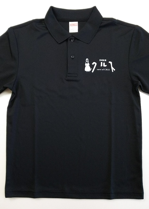 クルスオリジナルポロシャツ[black] M ※男女兼用