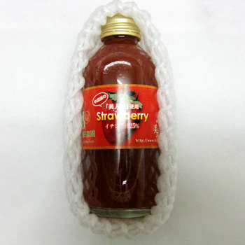 奥田農園 岐阜羽島「美人姫いちご果汁25% 180g×3本入」特大いちご美人姫の果汁飲料
