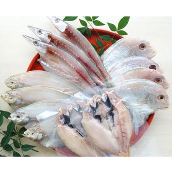 日本海冷蔵:能登沖でとれた新鮮な魚を一夜干に仕上げました「一夜干し詰合せ」