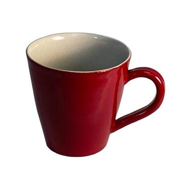 錦古里漆器店:「越前焼赤/黒うるし塗切立コーヒーカップ」NISHIKINURI
