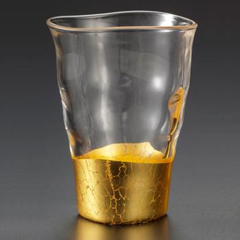 箔一「貫入 一口グラス」