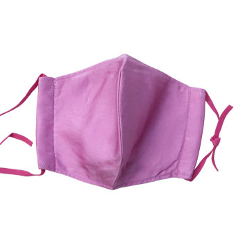 ※送料込※クリエイト山田:「草木染めシルクマスク」絹の滑らかな肌触り。ムレにくい三重構造。