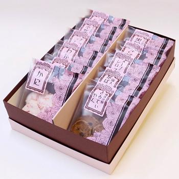 今屋:百通りのご縁「金沢百縁煎餅色々 11袋入り箱包装」食べきりサイズのお煎餅詰め合わせ