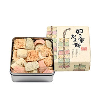 杉本清味堂 米の菓ゆめすけ 「羽二重かき餅 中缶(240g)/大缶(360g)」