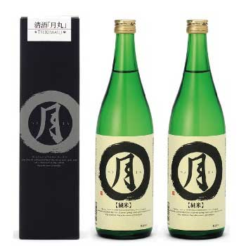 西岡河村酒造「月丸 純米」720ml×2本/1800ml