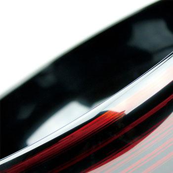 山崎漆器商会:越前塗「彩波盛鉢 白檀」膨らみのある大き目の盛器