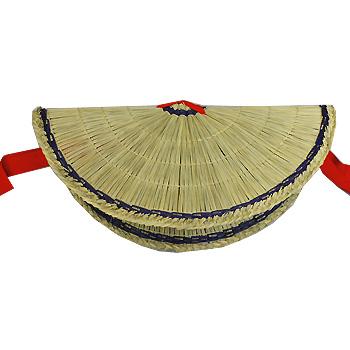 キシモト靴店:「紳士おわら草履×編み笠セット」おわら風の盆