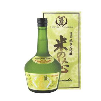銀盤酒造:「銀盤 超特選 米の芯」芳醇なふくみ香とまろやかさが絶品の淡麗辛口酒。