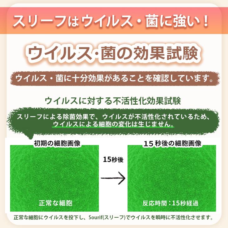除菌スプレー スリーフ Sourif / 除菌消臭スプレー 1000ml×2本 詰め替え用パウチのセット 日本製 2リットル 2L