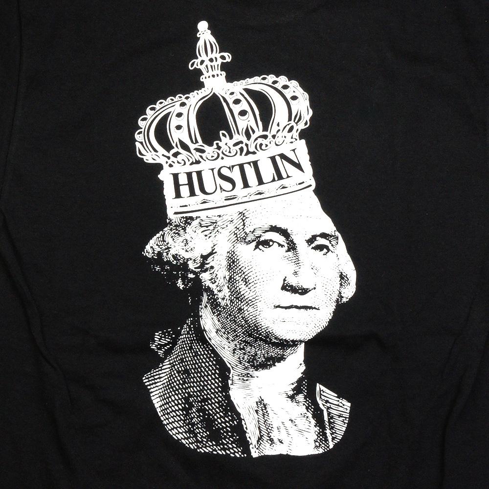 HUSTLIN ハスリン PSB01 Tシャツ/ブラック