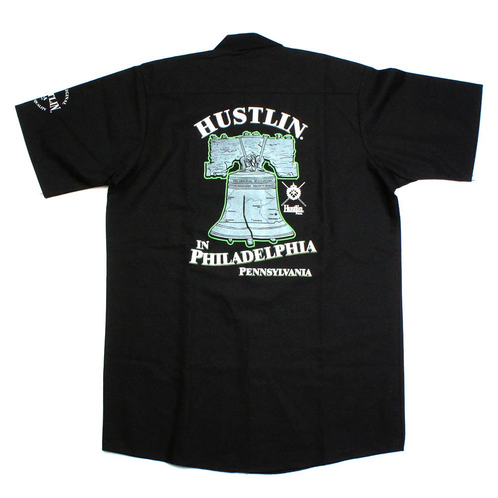 HUSTLIN ハスリン PWB シャツ/ブラック