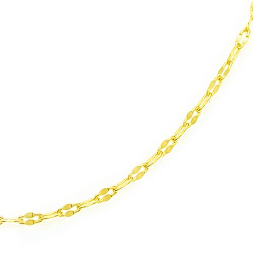 ロングネックレス K18 foliole chain 60