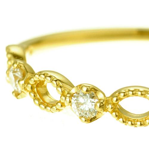 K18ダイヤモンドピンキーリング〜リング waltz