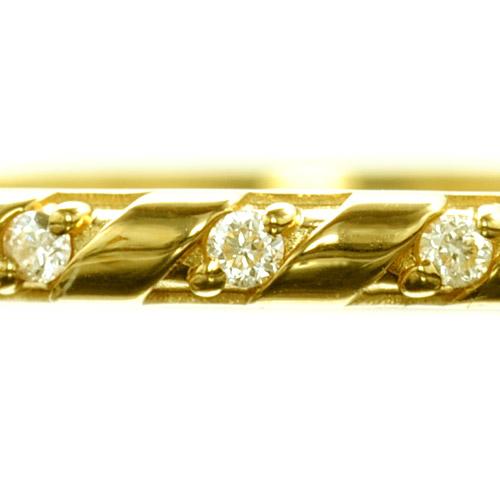 K18ダイヤモンドリング  armonia