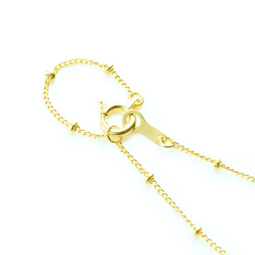 ステーション ロングネックレス K18 humming chain 60