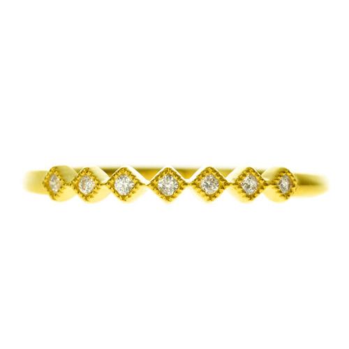 K18ダイヤモンドリング seven twinkle