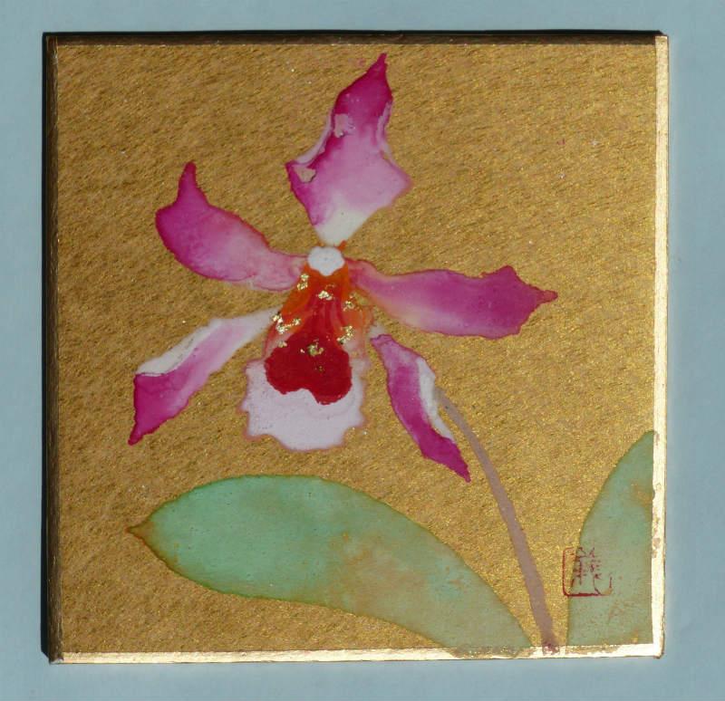 姫色紙の絵 蘭花