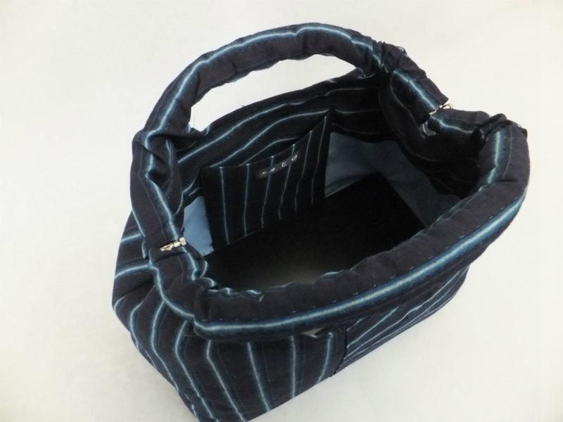 藍染着物リメイクバッグ