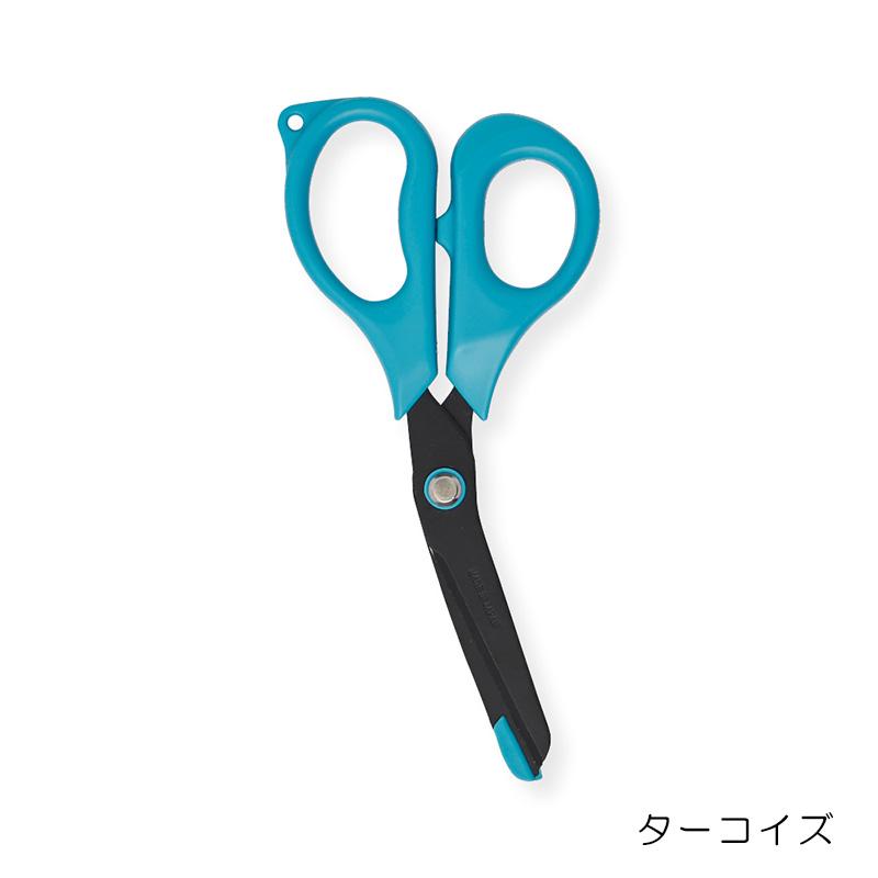 日本製2Φコイルストラップ付フッ素加工ナースハサミ