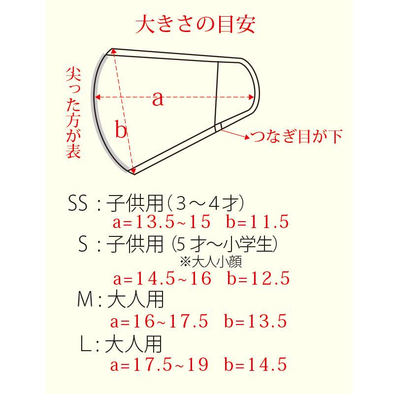 UVカット立体マスク  綿100%【ネコポス7】
