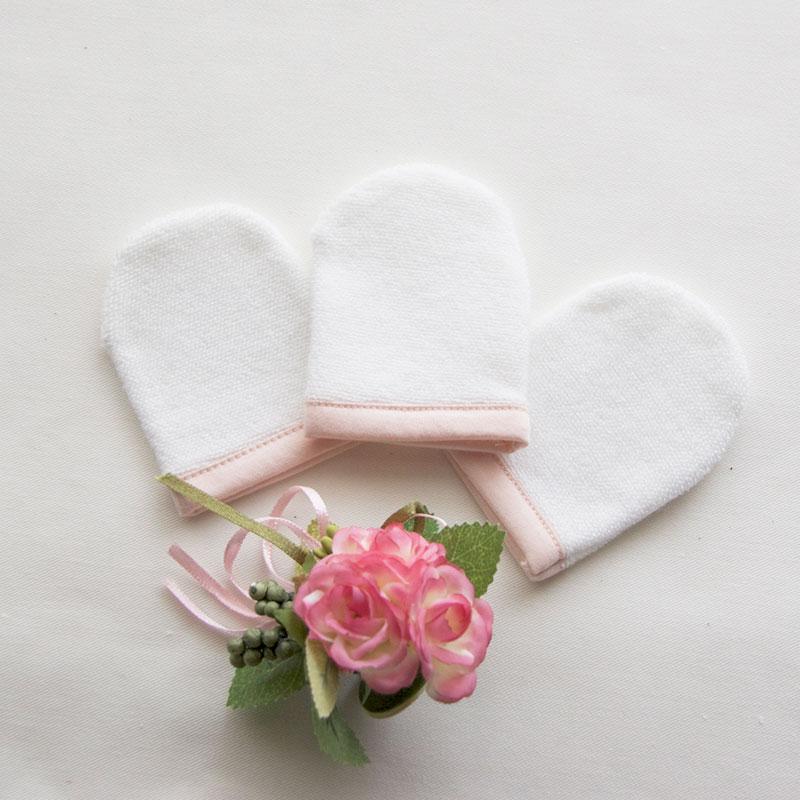 洗顔ミトン(3個入)  綿100%【ネコポス4】