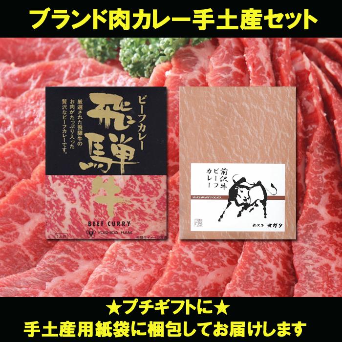 ブランド肉カレー手土産セット<プチギフトに★ギフト用紙袋入り>