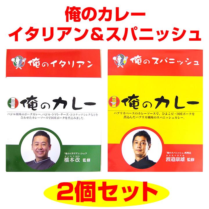 俺のカレー イタリアン&スパニッシュ 2個セット【送料込・クリックポスト】