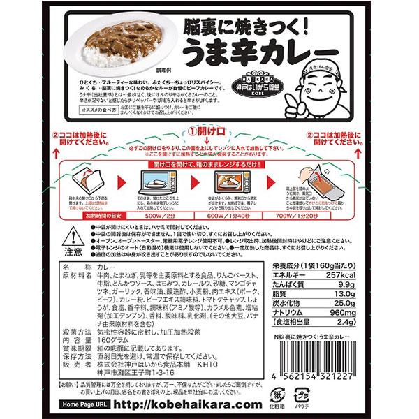 神戸はいから食堂 脳裏に焼きつく!うまからカレェー(中辛) 40個セット