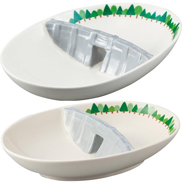 ダムカレー皿 <おもしろカレー用食器★ご当地カレーと一緒に>