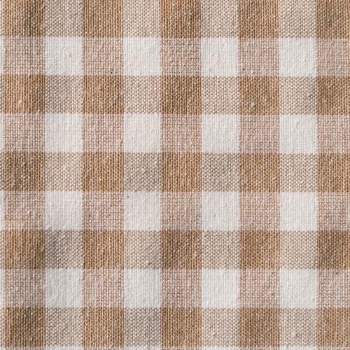 GinghamCheck/ブラウン(小窓・カフェカーテン)