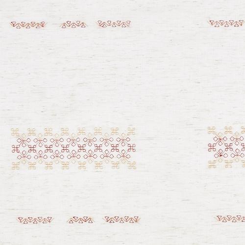 Woven/ベージュ・レッド