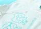 パーカー白×グリーンロゴ