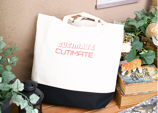 CUTIMATEトートバッグ 白×黒BIG