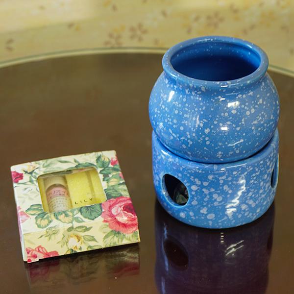 アロマ ポットセット マーブル ブルー 在宅 芳香剤 癒し お試しセット